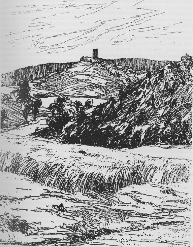 Burg Mellnau nach einer Zeichnung von Otto Ubbelohde