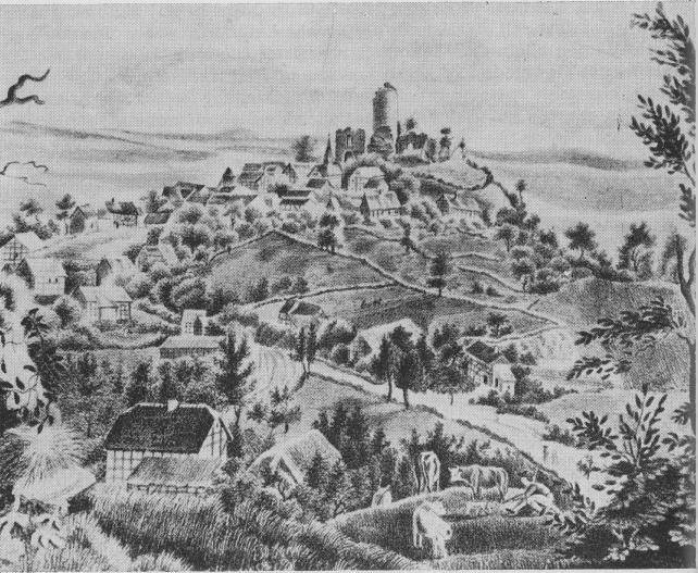 Mellnau um 1838