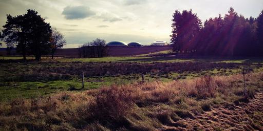 Oktober-Blick auf die Biogasanlage